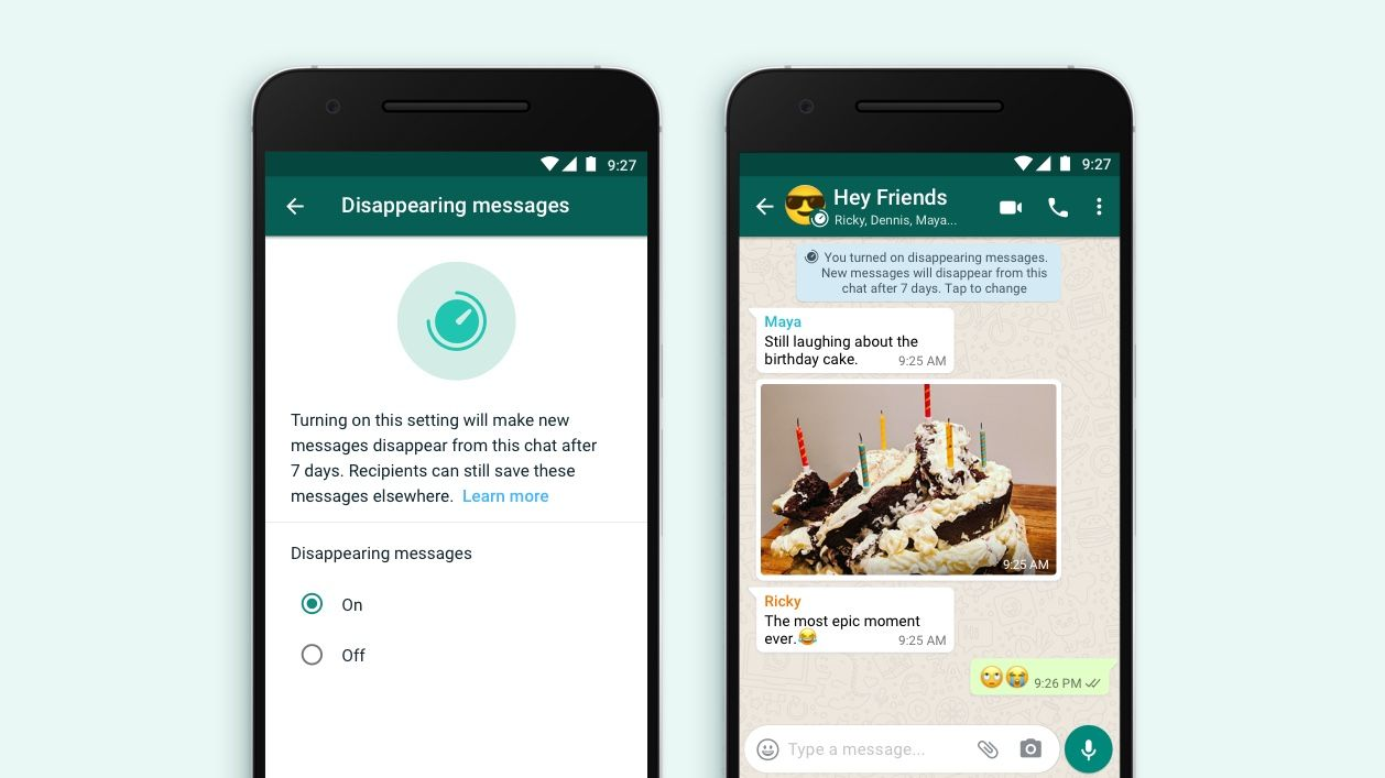 "WhatsApp rolls out ""disappearing messages"" which vanish after 7 days"