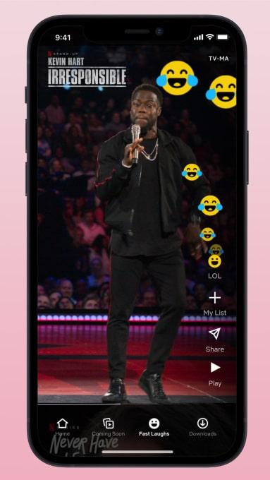 Netflix запускає стрічку Fast Laughs, схожу на TikTok, на iOS