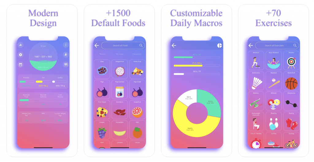 Calorie Counter app by EasyFit in the App Store